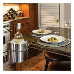 C-Line® Wine By Your Side, Steel Frame/Red Wine Adapter/Ice Bucket, 161.06 cu in, Stainless Steel