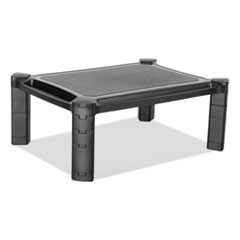 "Large Monitor Stand with Cable Management, 12.99"" x 17.1"", Black"