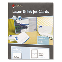 MACO® Unruled Microperforated Laser/Ink Jet Index Cards Thumbnail