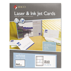 MACO® Unruled Microperforated Laser/Ink Jet Index Cards