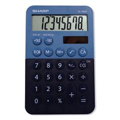 Sharp® EL-760RBBL Handheld Calculator, 8-Digit LCD