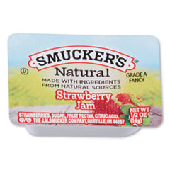 Smucker's® Smuckers 1/2 Ounce Natural Jam, 0.5 oz Container, Strawberry, 200/Carton