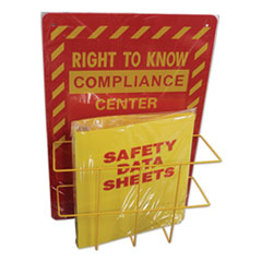 Impact® Deluxe Reversible Right-To-Know\Understand SDS Center, 14.5w x 5.2d x 21h, Red/Yellow