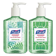PURELL® Advanced Hand Sanitizer Soothing Gel, Fresh Scent with Aloe and Vitamin E, 8 oz Pump Bottle, 4/Pack