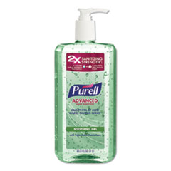 PURELL® Advanced Hand Sanitizer Soothing Gel, Fresh Scent with Aloe and Vitamin E, 1 L Pump Bottle