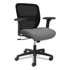 HON® Gateway Mid-Back Task Chair with Arms, Supports up to 250 lbs, Frost Seat, Black Back, Black Base