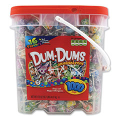 Spangler® Dum-Dum-Pops, Assorted, 172 oz Bucket, 1000 Count