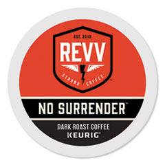 revv® NO SURRENDER K-Cup, Dark Roast, K-Cup, 24/Box