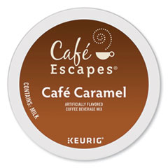 Café Escapes® Café Caramel K-Cups, 24/Box