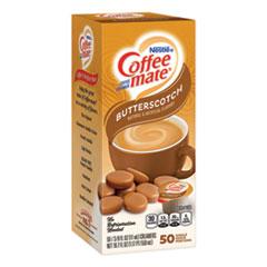 Coffee-mate® Liquid Coffee Creamer, Butterscotch, 0.38 oz Mini Cups, 50/Box, 4 Boxes/Carton, 200 Total/Carton