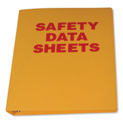 """Impact® Yellow SDS Binder, 1.5"""" Capacity, 8.5 x 11, Yellow/Red"""