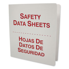 "Impact® White Bilingual SDS Binder, 1.5"" Capacity, 8.5 x 11, White/Red"