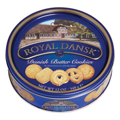 Royal Dansk® Cookies, Danish Butter, 12 oz Tin