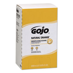 GOJO® NATURAL ORANGE Smooth Lotion Hand Cleaner, Citrus Scent, 2,000 mL Bag-in-Box Refill, 4/Carton