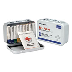 First Aid Only™ Unitized First Aid Kit for 10 People, 64-Pieces, OSHA/ANSI, Metal Case