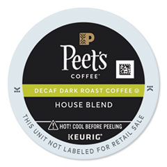 Peet's Coffee & Tea® House Blend Decaf  K-Cups, 22/Box