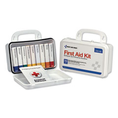 First Aid Only™ ANSI-Compliant First Aid Kit, 64 Pieces, Plastic Case