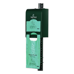 Poopy Pouch Imperial Pet Waste Bag Dispenser, Holds 800 Poopy Pouch Tie Handle Pet Waste Bags, Hunter Green