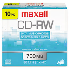 Maxell® CD-RW Rewritable Disc