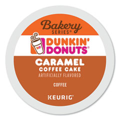 Dunkin Donuts® K-Cup® Pods, Caramel Coffee Cake, 24/Box