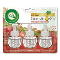 Air Wick® Scented Oil Refill, Warming - Apple Cinnamon Medley, 0.67 oz, 3/Pack, 6 Packs/Carton