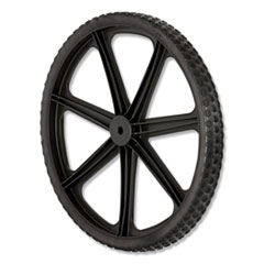 "Rubbermaid® Commercial Wheel for 5642, 5642-61 Big Wheel Cart, 20"" diameter, Black"