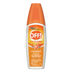 OFF!® FamilyCare Unscented Spray Insect Repellent, 6 oz Spray Bottle, 12/Carton