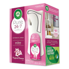 Air Wick® Freshmatic Ultra Automatic Pure Starter Kit, 3.33 x 3.53 x 7.76, White, Tropical Flowers