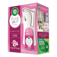 Air Wick® Freshmatic Ultra Automatic Pure Starter Kit, 3.33 x 3.53 x 7.76, White, Tropical Flowers 4/Carton