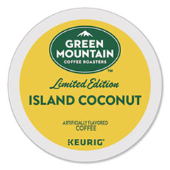 Green Mountain Coffee® Island Coconut Coffee K-Cup Pods, 96/Carton
