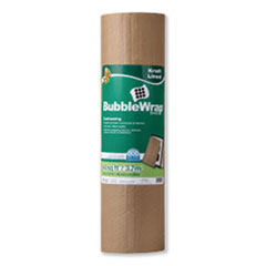 """Duck® Kraft Lined Bubble Wrap Cushioning, 0.1"""" Thick, 24"""" x 20 ft"""