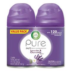 Freshmatic Ultra Spray Refill, Lavender/Chamomile, Aerosol, 5.89oz, 2/Pack, 3 Packs/Carton