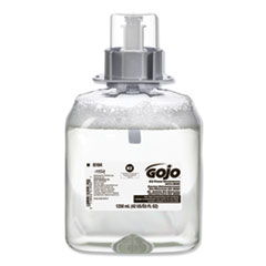 GOJO® E2 Foam Sanitizing Soap, Fragrance-Free, 1,250 mL Refill, 3/Carton