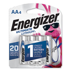 Energizer® Ultimate Lithium AA Batteries, 1.5V, 4/Pack