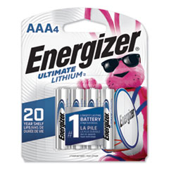 Energizer® Ultimate Lithium AAA Batteries, 1.5V, 4/Pack