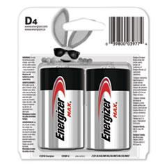 MAX Alkaline D Batteries, 1.5V, 4/Pack