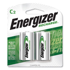 Energizer® NiMH Rechargeable C Batteries, 1.2V, 2/Pack