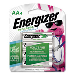 Energizer® NiMH Rechargeable AA Batteries, 1.2V, 4/Pack