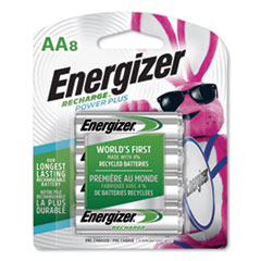 Energizer® NiMH Rechargeable AA Batteries, 1.2V, 8/Pack