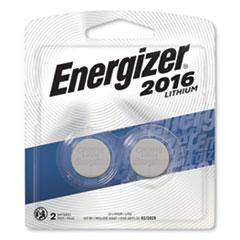Energizer® 2016 Lithium Coin Battery, 3V, 2/Pack
