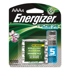Energizer® NiMH Rechargeable AAA Batteries, 1.2V, 4/Pack