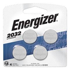 2032 Lithium Coin Battery, 3V, 4/Pack