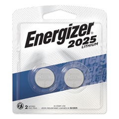 Energizer® 2025 Lithium Coin Battery, 3V, 2/Pack