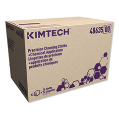 Kimtech™ Critical Cleaning Cloth, 1-Ply, 12.5 x 12, White, 76/Pack, 12 Packs/Carton