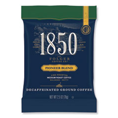 1850 Coffee Fraction Packs, Pioneer Blend Decaf, Medium Roast, 2.5 oz Pack, 24 Packs/Carton
