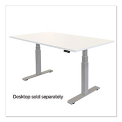 """Fellowes® Cambio Height Adjustable Desk Base, 72"""" x 30"""" x 24.75"""" to 50.25"""", Silver"""