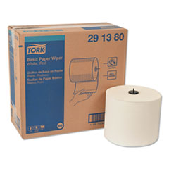 "Tork® Basic Paper Wiper Roll Towel, 7.68"" x 1150 ft, White, 4 Rolls/Carton"