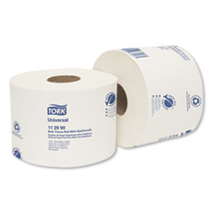 Tork® Universal Bath Tissue Roll with OptiCore, Septic Safe, 1-Ply, White, 1755 Sheets/Roll, 36/Carton