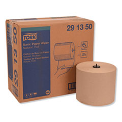 "Tork® Basic Paper Wiper Roll Towel, 7.68"" x 1150 ft, Natural, 4 Rolls/Carton"