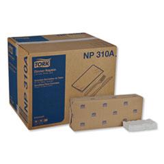 """Tork® Advanced Dinner Napkins, 2 Ply, 15"""" x 16.25"""", 1/8 Fold, White, 375/Packs, 8 Packs/Carton"""